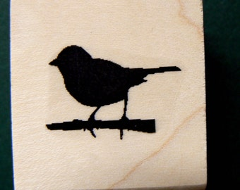 """bird rubber stamp 0.75x0.5"""""""