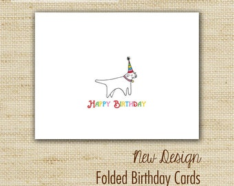 Kids birthday cards - Birthday Card Variety Set - Hand Glittered Eco-Friendly Folded Birthday Cards