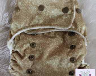 Gold Glitter AI2 Diaper - Cloth Diaper Waterproof - Girl Diaper - Ready to Ship