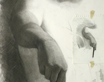 Charcoal drawing - original  (FD 14)