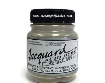 Feather, silk, wool, cashmere and Yarn Dyes - SILVER GRAY Jacquard Acid Dyes - 1/2 Oz : 3744