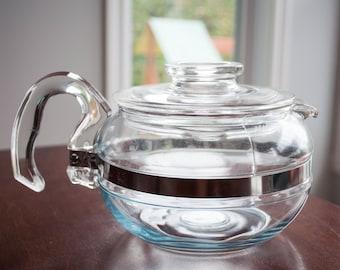 Vintage Pyrex Flameware Teapot - Pyrex 6 Cup