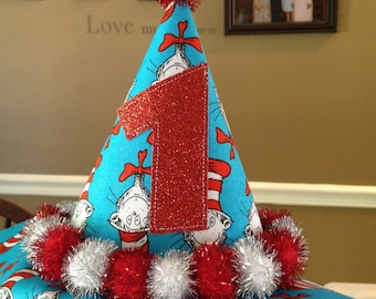 Dr. Seuss' The Cat in the Hat themed party hat