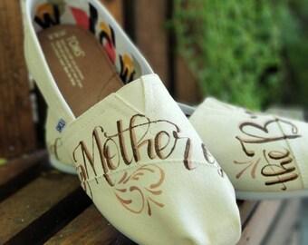 Custom Wedding Shoes, Wedding Shoes, Painted Wedding Shoes , Wedding Gift, Mother of the Bride, Mother of the Bride Shoes, Wedding,