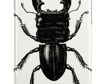 iPhone 6s Case Vintage Beetle Insect Case Minimal Black and White Illustration Samsung Galaxy Case 6s Plus