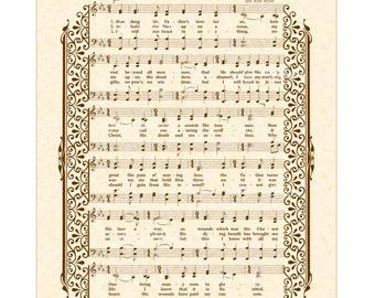 How Deep The Father's Love For Us - Custom Christian Home Decor VintageVerses Sheet Music Wall Art Inspirational Wall Decor Antique Hymn Art
