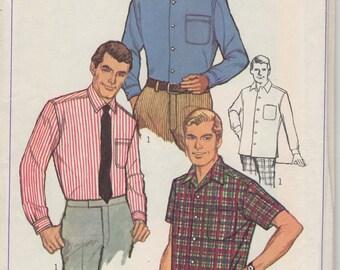 années 1960 hommes coniques Sport Shirt simplicité 7745 cou 16 poitrine 42