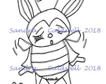 2211 Bee a Bunny Digi Stamp