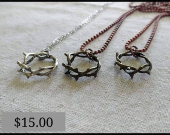 Crown of thorns necklace etsy crown of thorns necklace aloadofball Image collections