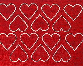 Rhinestone Hearts Placemat