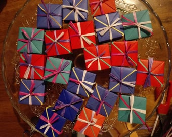 Wedding favours, handmade origami box, plastic-free