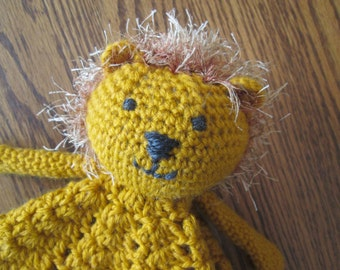 Lion Security Blanket Lovey Doll