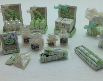 Dolls House Miniatures - 1/12th Lily of the Valley Toiletries Collection