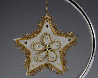 Star, Ornament, Vintage, Inarco, Gold Glitzy, Star of Bethlehem, Christmas Star, Japan, Gift for Her, Retro Ornament, Christmas Decoration