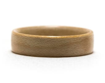 Maple Wood Ring, Bentwood Ring, Wooden Ring
