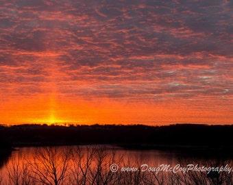 Winter Sunset over Lake Cumberland  #8899