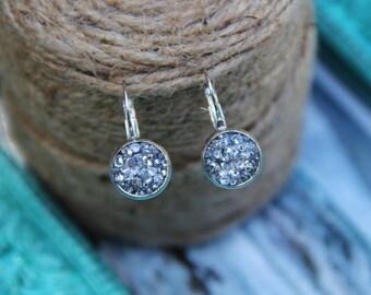 Round Diamond Dangle Earrings