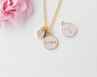 Aries zodiac necklace, aries pendant, gift for aries, aries jewelry, Aries necklace, star sign necklace,star sign necklace, / GFZSSNARIE1
