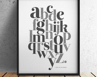 Alphabet Print - I love the Alphabet