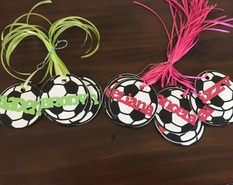 sports party tags, name tags, thank you tags, handmade tags, Personalized party favor tags, sports, superhero, owl, beachball