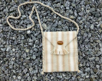 Handwoven Purse - natural - cotton