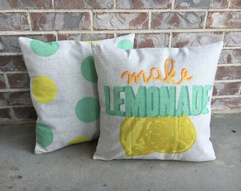 Lemonade pillow cover