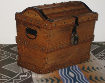 PIRATE TREASURE CHEST ~~ handcrafted~~ over 300 sold !!