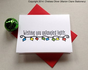 Funny Christmas Card - Untangled Lights