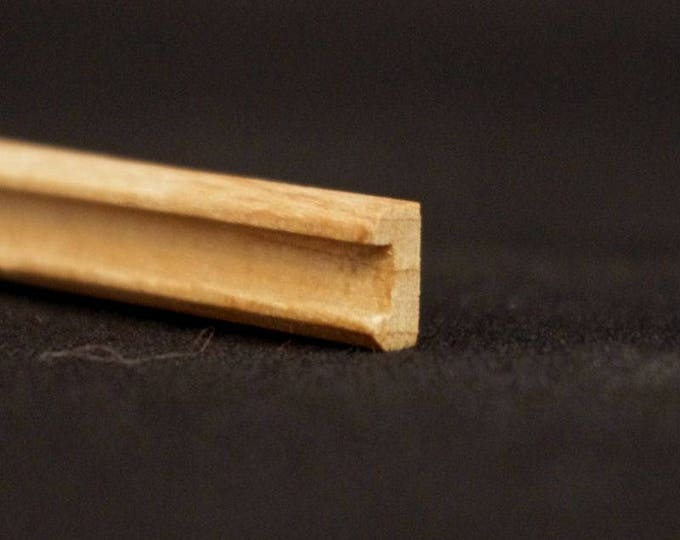 Groin, wood nature untreated, for the doll's house, for the model, for the Krippenbau # 23553