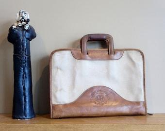 "Etsy BDay Sale Ghurka Marley Hodgson Chestnut Leather No. 24 ""The Attache"" Registration No. F 1761- Circa 1983 -Handmade U.S.A."