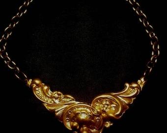 Art Nouveau Brass Bracelet