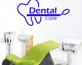 Dental Care Wall Sticker Stomatology Clinic Sign Window Decal Tooth Healthcare Vinyl Art Decorations for Office Dentist Custom Decor dl5