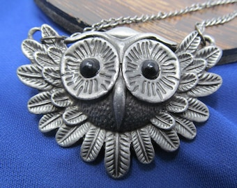 Owl Pewter Necklace. Whoo Can Resist?, Vintage Jewelry, Rings For Women