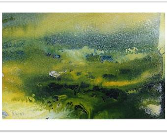 Original Abstract Art Painting, Original Painting, Green Abstract Painting, Acrylic Painting, Wall Art, Green Painting, Landscape Painting