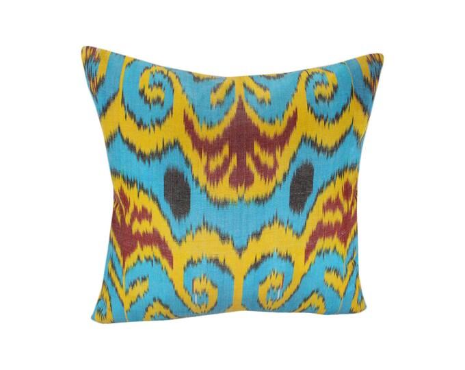 Ikat Pillow, Handmade Ikat Pillow Cover  S185, Ikat throw pillows, Designer pillows, Decorative pillows, Accent pillows