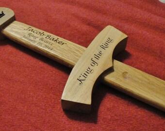 Ring Bearer Gift -Custom Wooden Sword - play sword - keepsake
