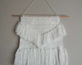 Simple Wall Hanging | White Yarn Weave
