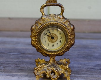 Antique Wind Up Clock Ornate