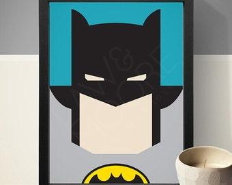 Batman Poster, Superhero Poster, Movie Poster, Film Poster, Wall Print