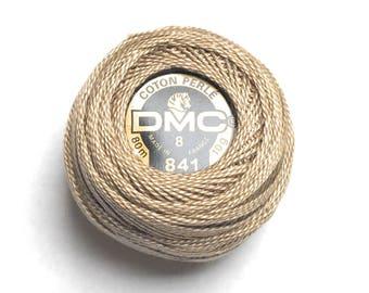 DMC 841 Perle Cotton Thread |Size 8|  Light Beige Brown