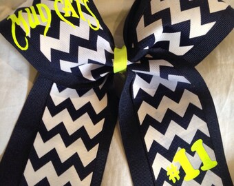 Team softball bow in your team colors