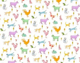 Liberty Art Fabrics Farmyard Tails A Tana Lawn