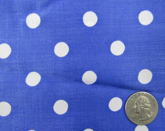 4 yards vintage purple with white polka dot polyester fabric