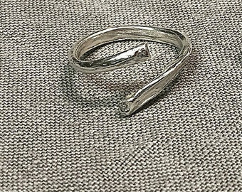 Rib bone ring - silver