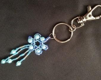 bead pearl key chain