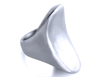 Large Solid Fashionista Statement Ring #925 Sterling Silver #Azaggi R0689S