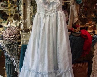 Blue White Gunne Sax Styled Gown