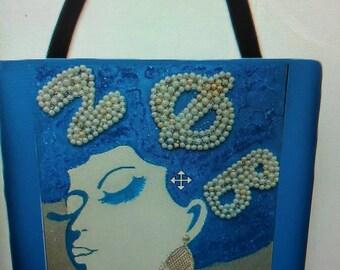 Zeta Zest Tote Bag, Zeta Phi Beta Painting Tote Bag, Zeta Tote Bag