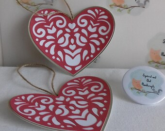 Pretty Heart Gift Tags, pack of 2
