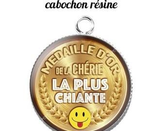 20 mm resin cabochon pendant medal sweetheart... 7